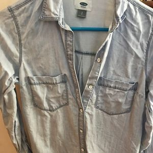 Old Navy Light wash button down shirt-Small